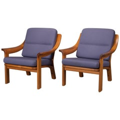 Pair of Armchairs with Finger Joint Arms by PJ Danmark