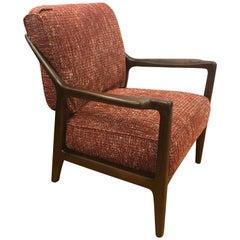 Midcentury Danish Walnut Lounge Armchair Finn Juhl