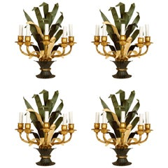 Set of Four Bagues Tole French Sconces