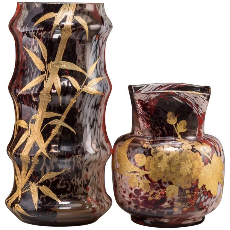 Two Art Nouveau French Fajence Vases Circa 1900 At 1stdibs