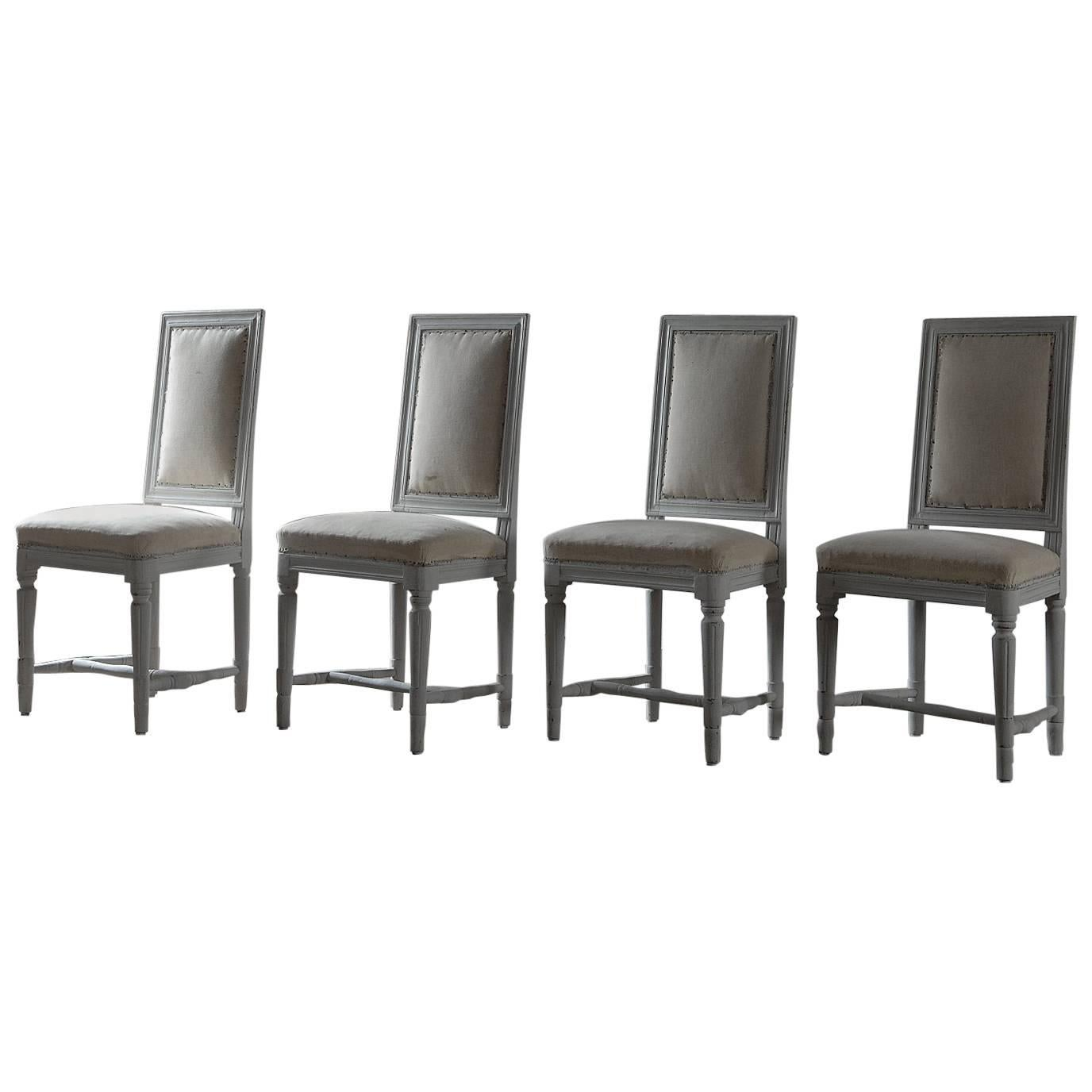 Exceptional Set Of Four Period Gustavian Dining Chairs For Sale Awesome Design