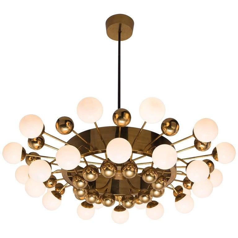 Large Brass Sputnik Chandelier