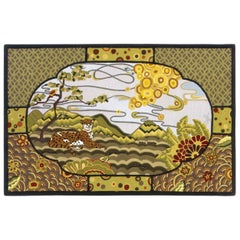 Angela Adams Boo Boo's Dream Area Rug and Tapestry, One-of-a-kind, Handcrafted