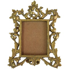 Antique Gilded Bronze Picture Frame