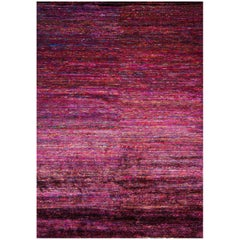 Recycled Sari Silk Multicolored Area Rug