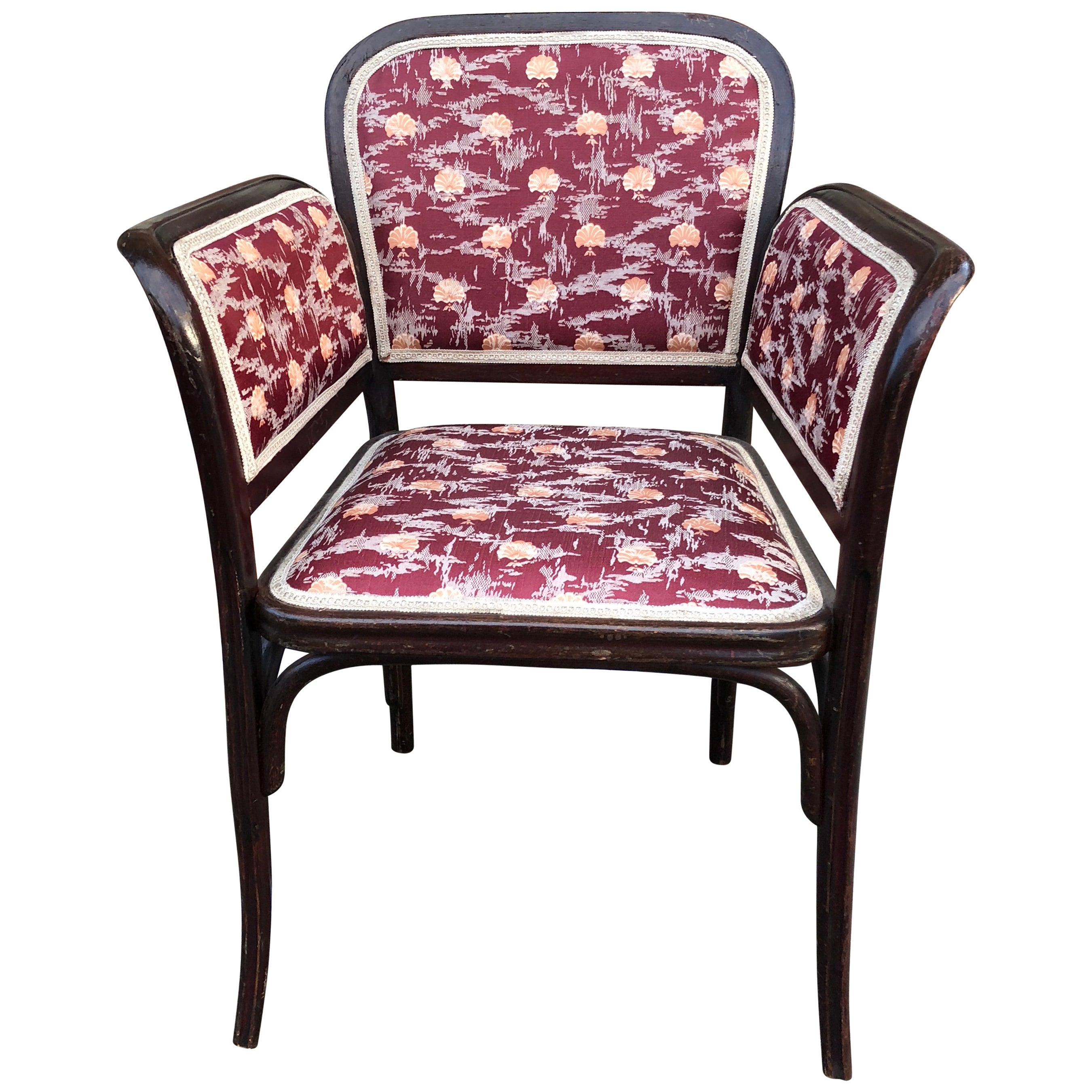 Thonet Secessionist Armchair Attributed to Otto Wagner