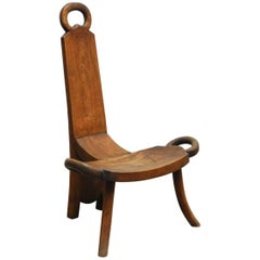 19th Century English Carved Birthing Chair