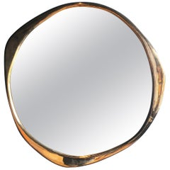 A. Cepa Wall Mirror Large in Polished Bronze