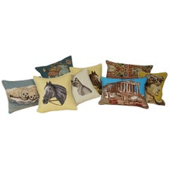 Assortment of Vintage Needlepoint Pillows