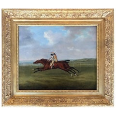 """19th Century Horse Race Painting """"the Derby at Epsom"""" 1811"""