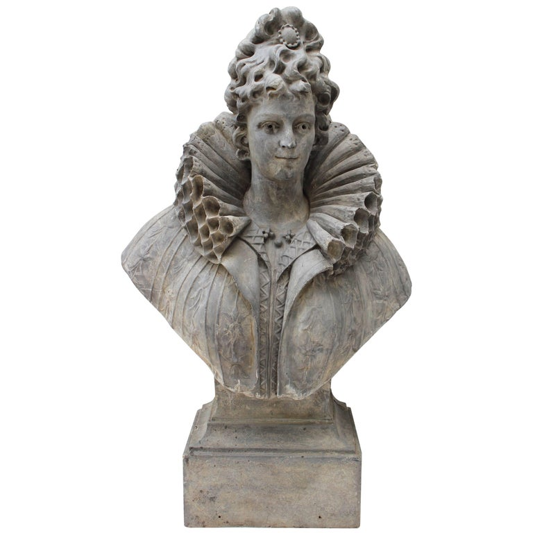 Large Bust of a Continental Lady For Sale