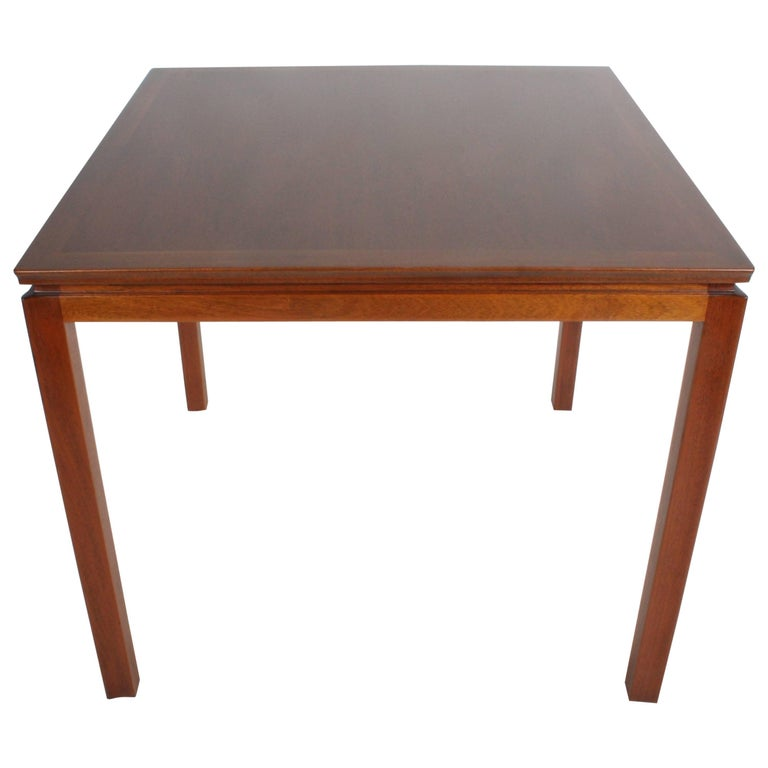 Edward Wormley for Dunbar Mahogany Game Table, Restored For Sale