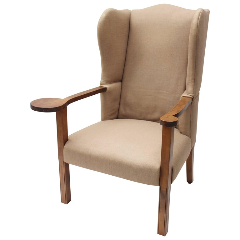1960s Missoni Wingback Chair At 1stdibs: Upholstered Wingback Chair For Sale At 1stdibs