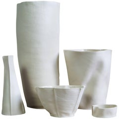 Set of Five Kawa Porcelain Pieces, in stock