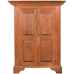 Queen Walnut Shrank Two Door Raised Panels, 18th Century