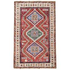 Tribal Red Antique Kurd Carpet