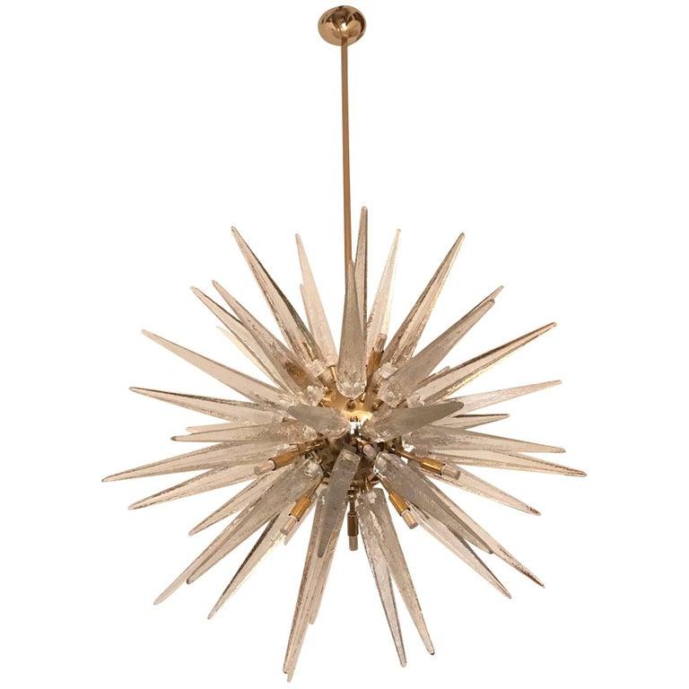 Sputnik Chandelier with Handblown Murano Glass