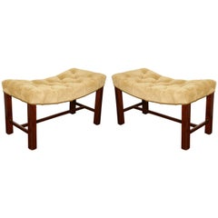 Pair of Chippendale Style Benches