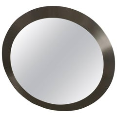 Italian Wall Mirror with Aluminum Frame from 1970s