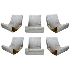 Set of Six Willy Guhl Loop Chairs