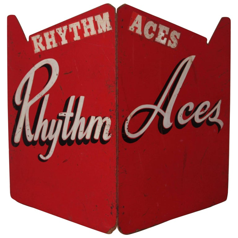 Art Deco Painted Wood Bandstand Rhythm Aces from 1930s-1940s
