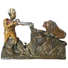 """Lion Hunter"" Mechanical Bank, American, circa 1911"
