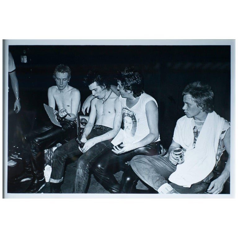 Sex Pistols Backstage, Iconic Large Photo by Dennis Morris, #1 of Edition of 5 For Sale