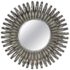 Silver Leaf Italian Eyelash Mirror