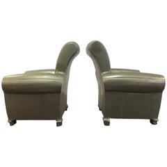 Pair of Pewter Lounge Chair Bookends