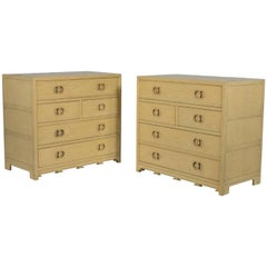 Pair of Baker Bachelor Chests from New World Collection
