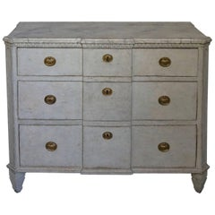 Neoclassical Breakfront Chest of Drawers