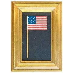 Small Framed American Centennial Parade Flag