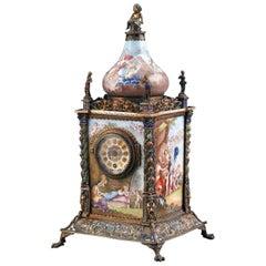 Viennese Enamel Mantel Clock