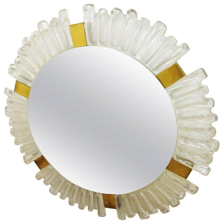 Kalmar Backlit Ice Glass Round Mirror