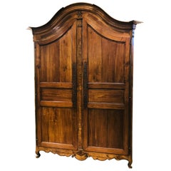 Antique French Cherrywood Two-Door Armoire, circa 1830