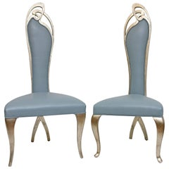 Pair of Modernist Giltwood Chairs