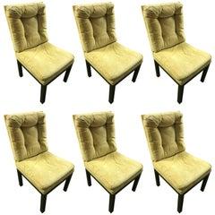 Milo Baughman Set of Six Dinning Chairs