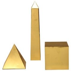 Midcentury Italian Brass 3-D Objects by Sarreid Ltd