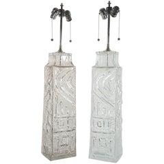 Geoffrey Baxter Monumental Glass Lamps