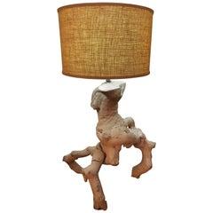 Mid-Century Modern Driftwood Lamp