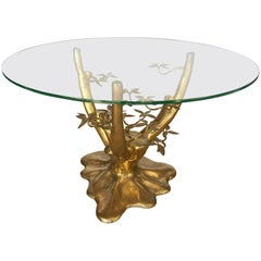 Brass Tree Form Gueridon Centre Table