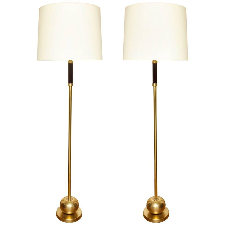 Pair of French Art Deco Standing Lamps 1