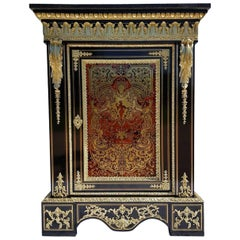 Rare 18th Century French Marquetry Boule Cabinet, France