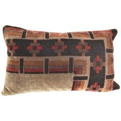Custom Pillow Cut from a Hand Blocked Amsterdam School Textile, Netherlands
