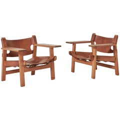 Pair of Borge Mogensen Spanish Chairs, Denmark