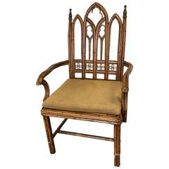 Gothic Style Rattan Armchair