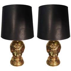 Piero Fornasetti, Pair of Table Lamp in Céramic