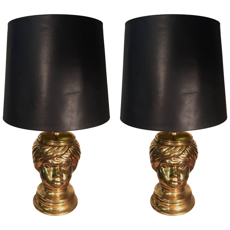 Piero Fornasetti, Pair of Table Lamp in Céramic For Sale