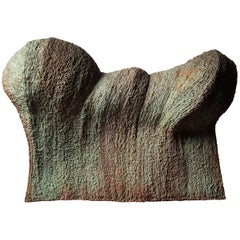 Contemporary Brutalist Wave Form Sculpture in Bronze by Douglas Ihlenfeld