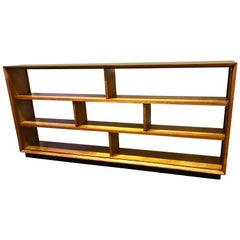 Striking 'X' Long and Low Mid-Century Modern American Mahogany Bookcase